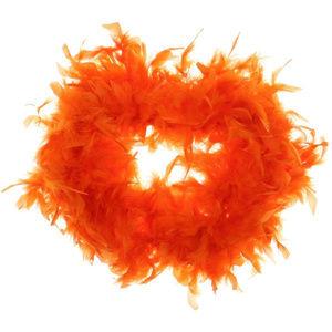 Real Orange Feather Scarf Boa Halloween Costume